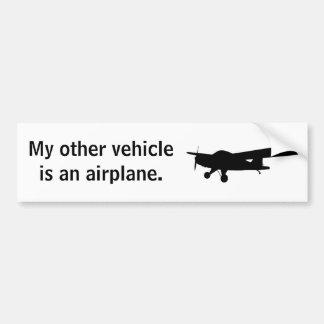 Autocolante no vidro traseiro do avião adesivo para carro