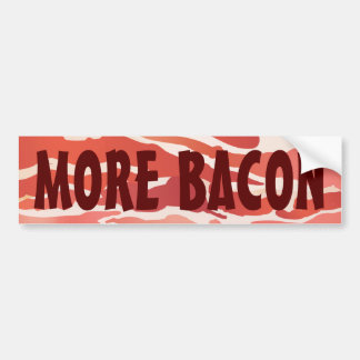 Autocolante no vidro traseiro do bacon adesivo