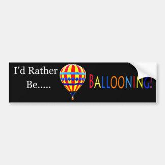 autocolante no vidro traseiro do balão adesivo