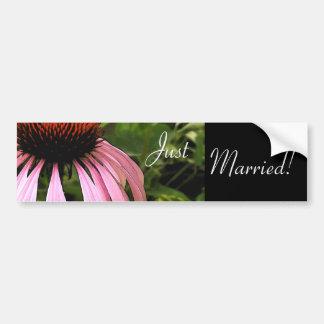 Autocolante no vidro traseiro do casamento da flor adesivo