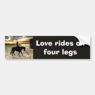 Autocolante no vidro traseiro do cavalo e do caval adesivo para carro