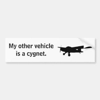 Autocolante no vidro traseiro do Cygnet Adesivo Para Carro