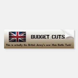 Autocolante no vidro traseiro do exército britânic adesivo
