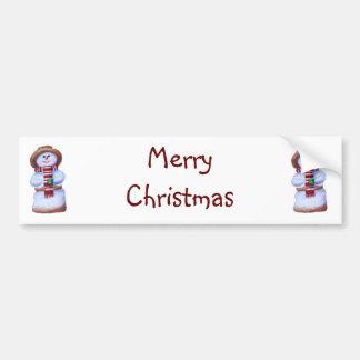 Autocolante no vidro traseiro do Feliz Natal do bo Adesivo