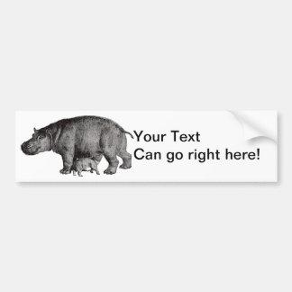 Autocolante no vidro traseiro do hipopótamo do vin adesivo para carro