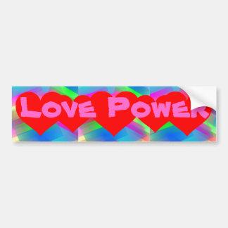 Autocolante no vidro traseiro do poder do amor adesivo