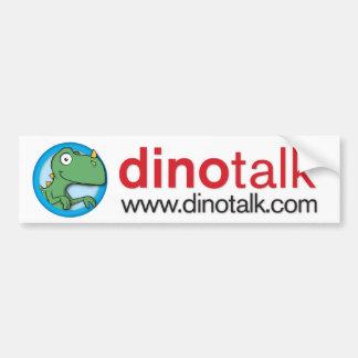 Autocolante no vidro traseiro do portal de Dino Adesivo Para Carro
