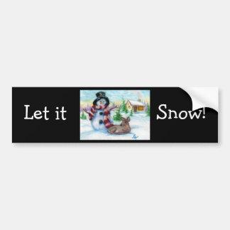 Autocolante no vidro traseiro do Sr. Boneco de nev Adesivo Para Carro
