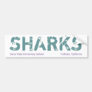 Autocolante no vidro traseiro do tubarão           adesivo para carro