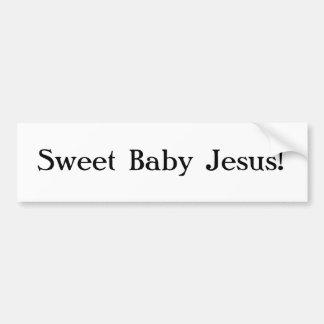 Autocolante no vidro traseiro doce de Jesus do beb Adesivo Para Carro