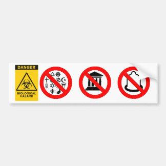 Autocolante no vidro traseiro dos Biohazards de Adesivo Para Carro