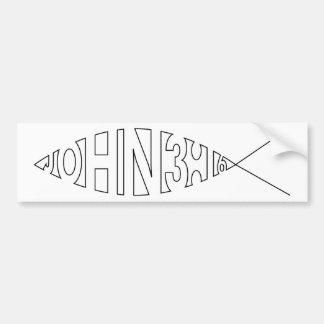 Autocolante no vidro traseiro dos peixes do 3:16 d adesivo para carro