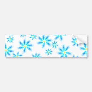 Autocolante no vidro traseiro floral azul do diver adesivo para carro