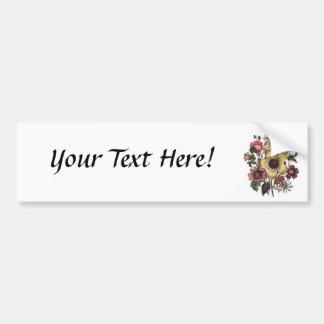 Autocolante no vidro traseiro floral das flores do adesivo para carro