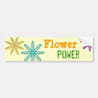 Autocolante no vidro traseiro floral de flower pow adesivo para carro