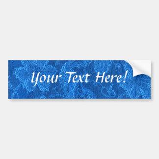 Autocolante no vidro traseiro floral do azul da sa adesivo para carro