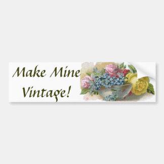Autocolante no vidro traseiro floral do vintage co adesivo