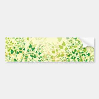 Autocolante no vidro traseiro floral verde do prim adesivo para carro