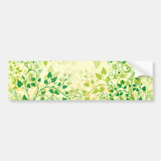 Autocolante no vidro traseiro floral verde do prim adesivos