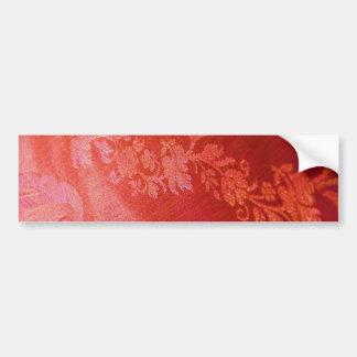 Autocolante no vidro traseiro floral vermelho da e adesivo para carro