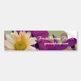 Autocolante no vidro traseiro fresco do florista d adesivos