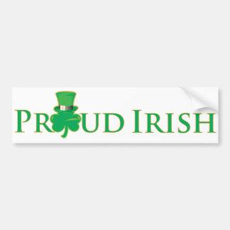 Autocolante no vidro traseiro irlandês orgulhoso adesivo para carro