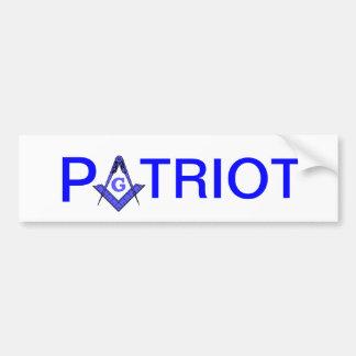 Autocolante no vidro traseiro maçónico do patriota adesivo para carro