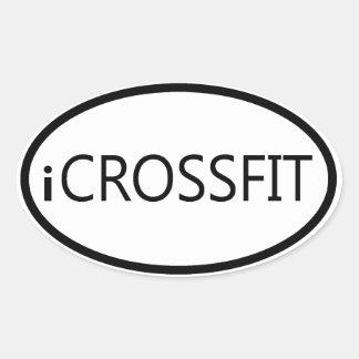 Autocolante no vidro traseiro oval - iCROSSFIT Adesivo Oval