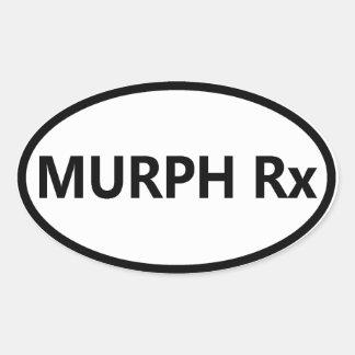 Autocolante no vidro traseiro oval - Murph Adesivo Oval