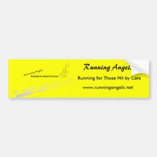 Autocolante no vidro traseiro Running dos anjos Adesivo Para Carro