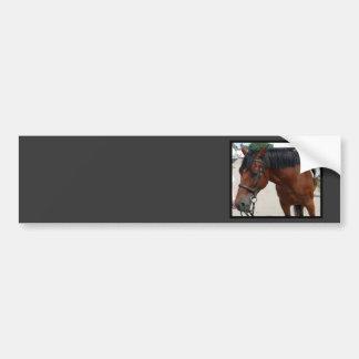 Autocolante no vidro traseiro tacheado do cavalo adesivos