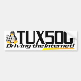 Autocolante no vidro traseiro Tux500 Adesivo Para Carro
