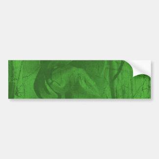 Autocolante no vidro traseiro verde das reflexões  adesivo