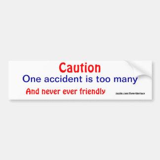 Autocolantes no vidro traseiro do acidente do cuid adesivo para carro