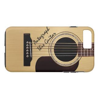 Autógrafo do costume da guitarra acústica capa iPhone 7 plus