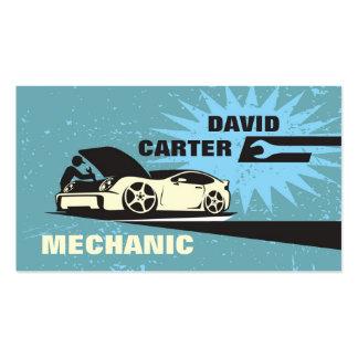 Automotriz/competência/cartão de visita mecânico d cartão de visita