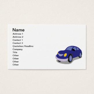 AUTOMÓVEL AZUL do CARRO dos DESENHOS ANIMADOS Cartão De Visitas