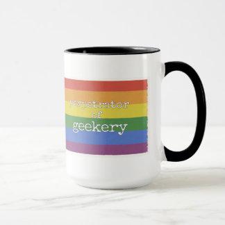 Autor de Geekery arco-íris da caneca de 15 onças