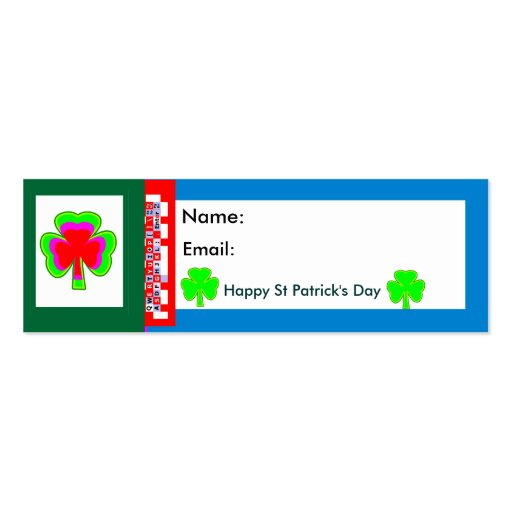 Autorizou o MUSEU Zazzle Shamrock2 Cartao De Visita