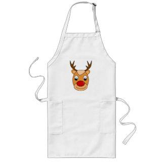 Aventais engraçados do presente do Natal da rena
