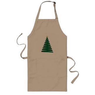 Aventais verdes da árvore de Natal