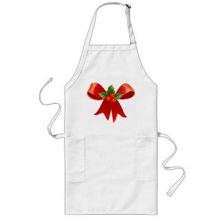 Aventais vermelhos do cozinhar do Natal do visco