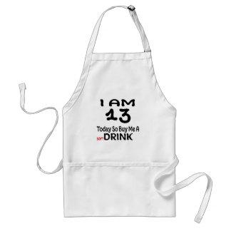 Avental 13 hoje compre-me assim uma bebida