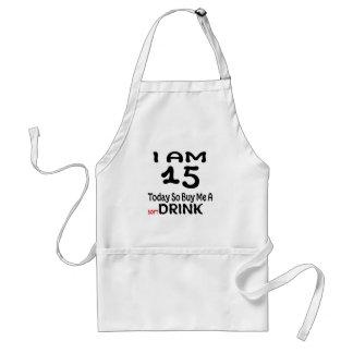 Avental 15 hoje compre-me assim uma bebida