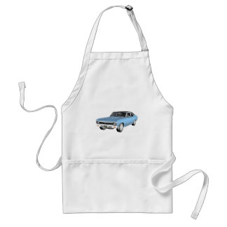Avental 1968 claro - carros azuis do músculo