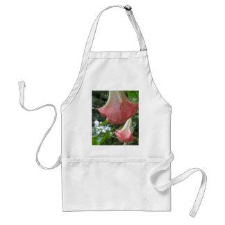 Avental 2 flores de trombeta cor-de-rosa dos anjos