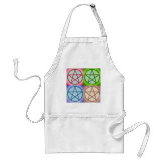 Avental 4 pentagrams
