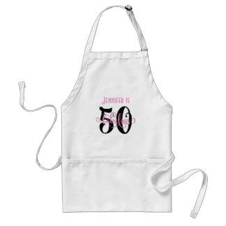 Avental 50 & pretos fabulosos & picam o aniversário da