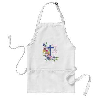 Avental 60th Aniversário, freira, cruz religiosa da vida