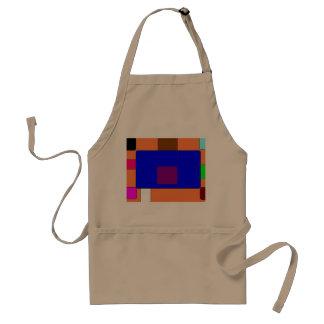 Avental Aba - arte abstracta colorida no fundo alaranjado